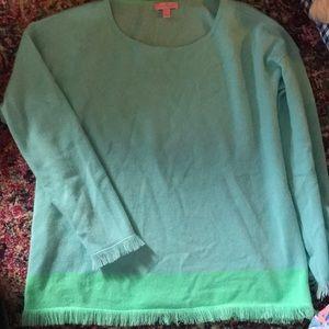 Lilly Pulitzer cashmere fringe sweater
